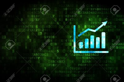 21344997-News-concept-pixelated-Growth-Graph-icon-on-digital-background-empty-copyspace-for-card-text-adverti-Stock-Photo